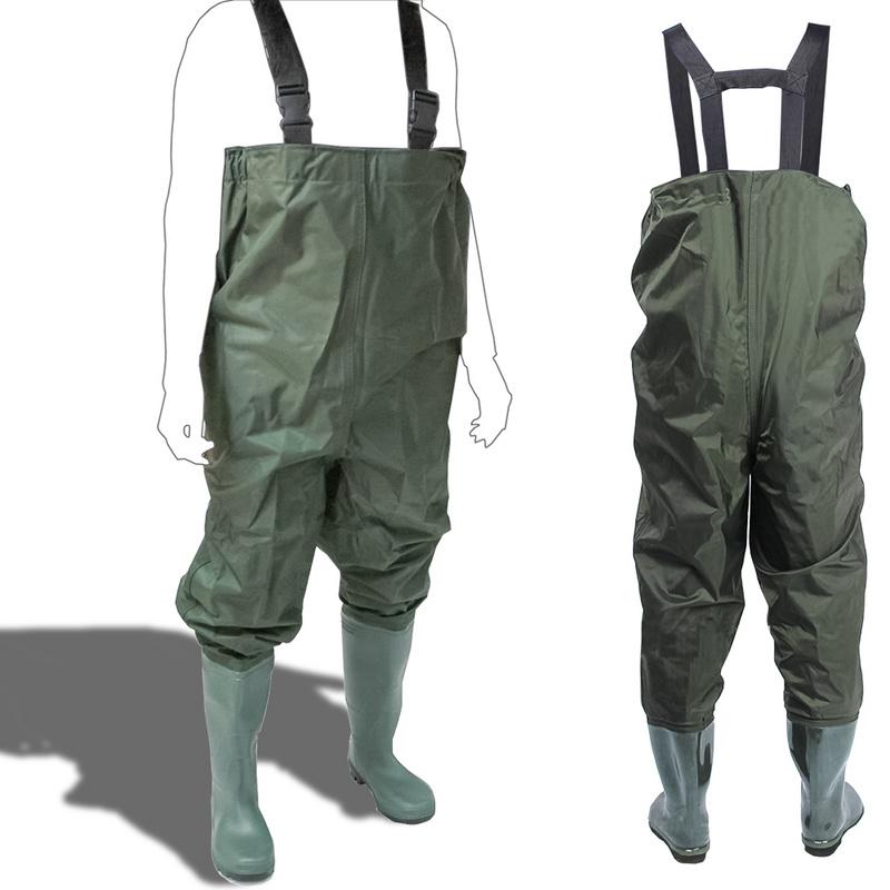 Wathose Anglerhose Haltbar Watstiefel Teichhose Wasserdicht Gr XL 44//45