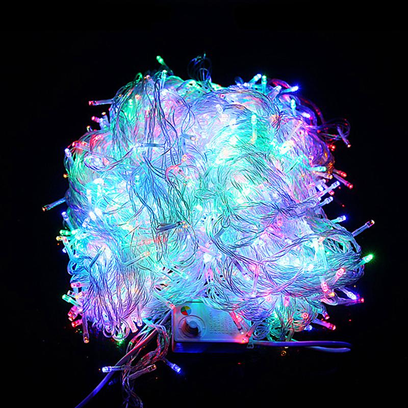220v 1000 led lichterkette weihnachtsbeleuchtung ideal f r party pavillon 200m ebay. Black Bedroom Furniture Sets. Home Design Ideas