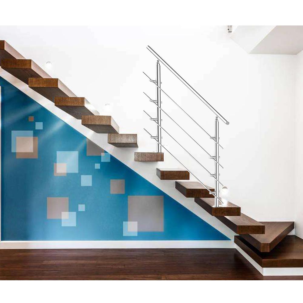 edelstahl gel nder handlauf treppengel nder br stung treppe bausatz mit querstab ebay. Black Bedroom Furniture Sets. Home Design Ideas