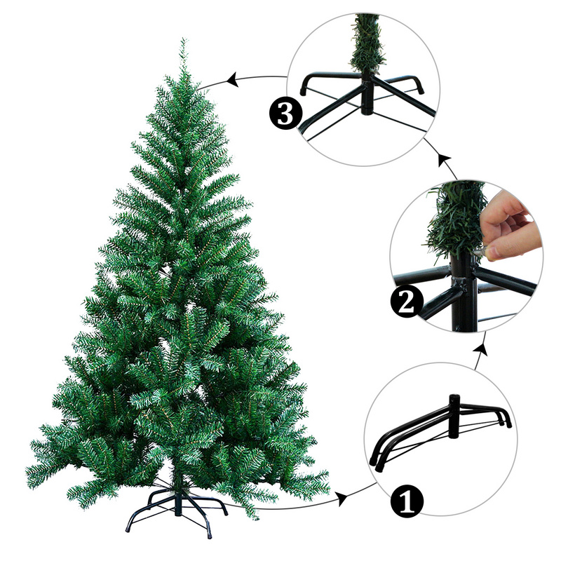 Christmas Tree 4-7ft Colorado Pine Artificial Xmas Traditional Christmas Tree