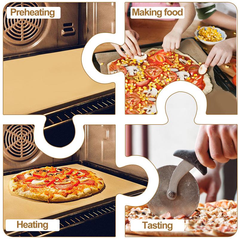 Pizzastein Backstein Rechteckig Set Cordierit Pizzaschaufel Profi Geschmack