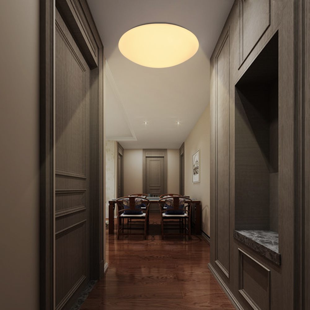 12w led sensor deckenleuchte wandleuchte mit pir bewegungsmelder radar flur ip44 ebay. Black Bedroom Furniture Sets. Home Design Ideas