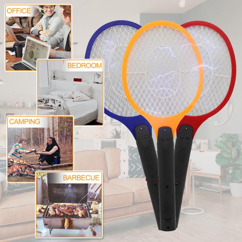 3X Elektrische Fliegenklatsche Mücken Insektenvernichter Zuhause