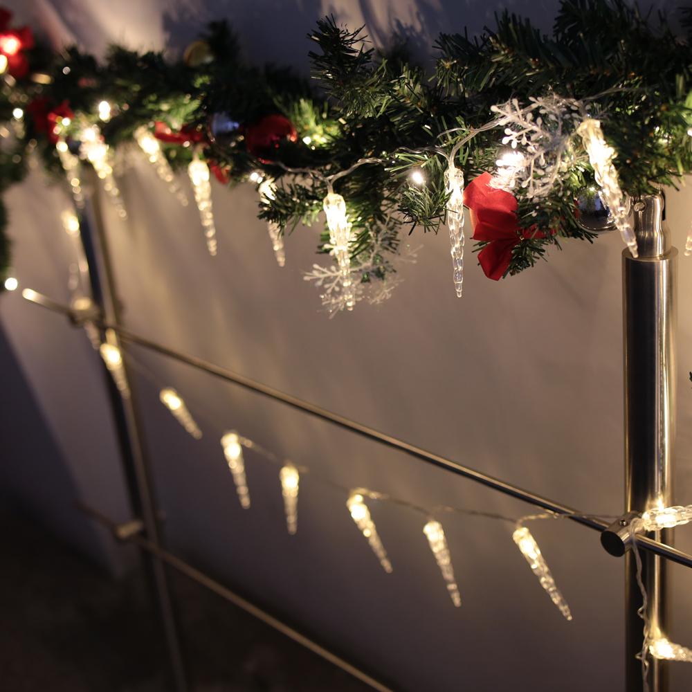 10m led warmwei eisregen eiszapfen lichterkette. Black Bedroom Furniture Sets. Home Design Ideas