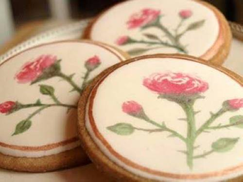 Amazing Watercolor Cookies from Sweetambs at Etsy