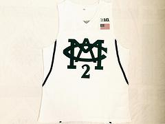 NCAA密歇根大学2号贾伦杰克逊JarenJackson白色刺绣球衣